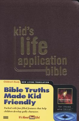 Kid's Life Application Bible Bible Truths Made Kid Friendly  New Living Translation  Burgundy Imitation Leather