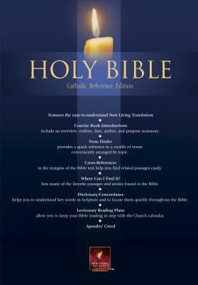 Holy Bible New Living Translation Catholic Reference, Black Bonded Leather