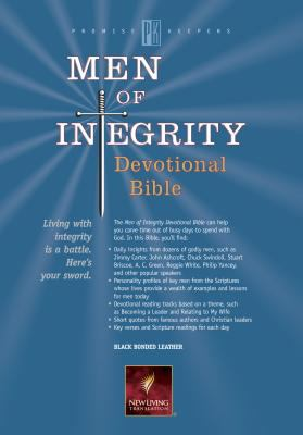 Men of Integrity Devotional Bible New Living Translation, Black Bonded Leather