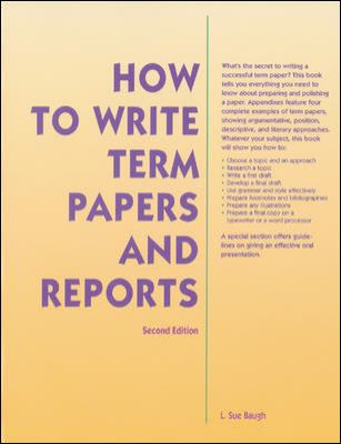 How to Write Term Papers and Reports