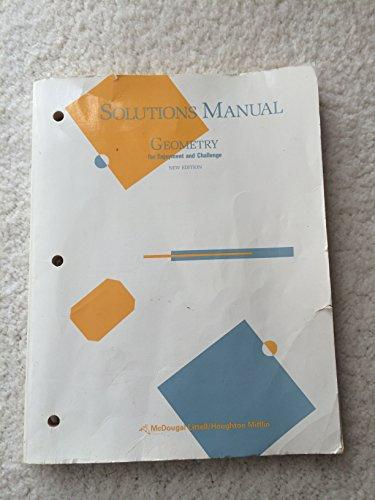 McDougal Littell Solutions Manual for Geometry for Enjoyment and Challenge, New Edition