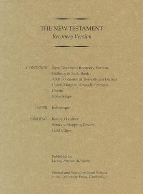 New Testament Recovery Version, Burgandy, Bonded Leather
