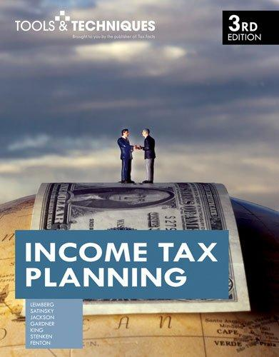 Tools & Techniques of Income Tax Planning