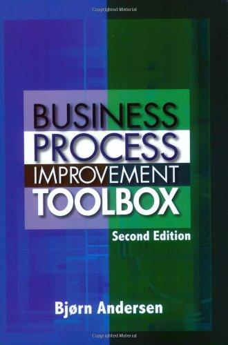 Business Process Improvement Toolbox, Second Edition
