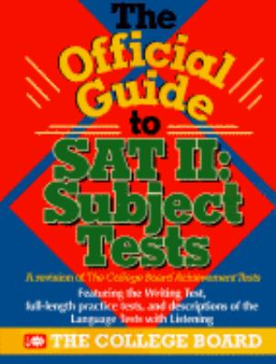College Board's Official Guide to Sat: Subject Tests - College Board - Paperback