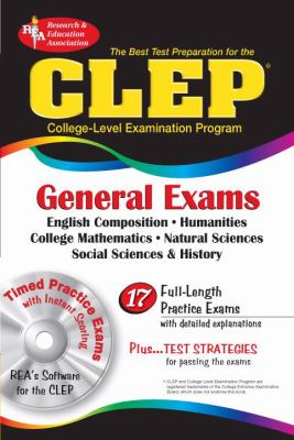 Best Test Preparation For The Clep General Exams with CD-ROM for Windows - REA's Interactive TESTware for the CLEP General Exams