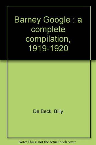 Barney Google : a complete compilation, 1919-1920
