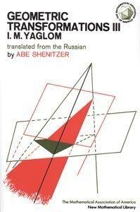 Geometric Transformations III (New Mathematical Library) (Bk. 3)