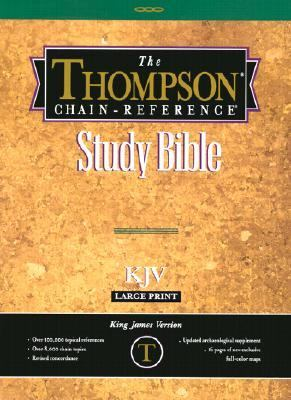 Thompson Chain-Reference Bible King James Version/Large Print/Plain/Deluxe Black Leather