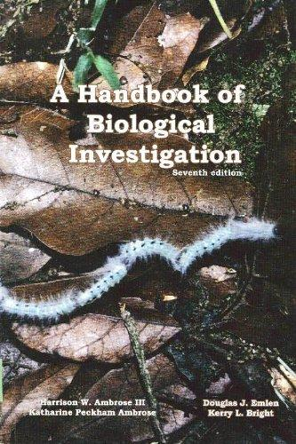 A Handbook of Biological Investigation 7th