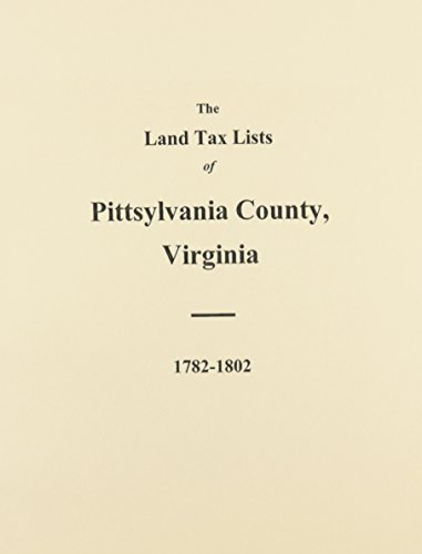 Pittsylvania County, Virginia Land Tax Lists: 1782-1802