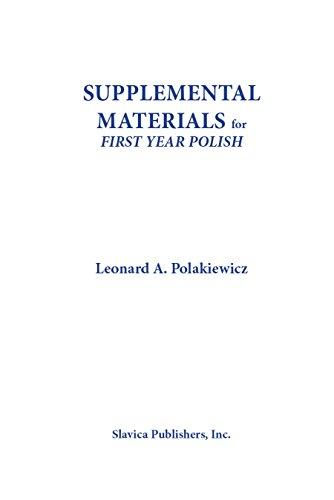 Supplemental Materials for First Year Polish