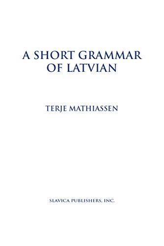 Short Grammar of Latvian
