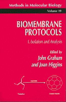 Biomembrane Protocols Isolation and Analysis