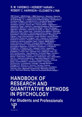 Handbook of Research and Quantitative Methods in Psychology