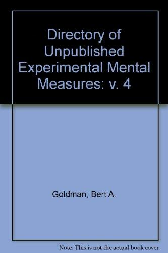 Directory of Unpublished Experimental Measures (Directory of Unpublished Experimental Mental Measures)