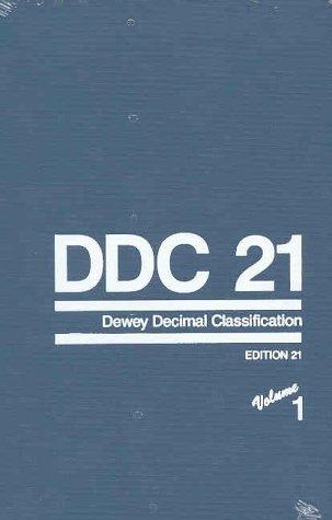 DDC 21 - Dewey Decimal Classification and Relative Index (4-volume set)