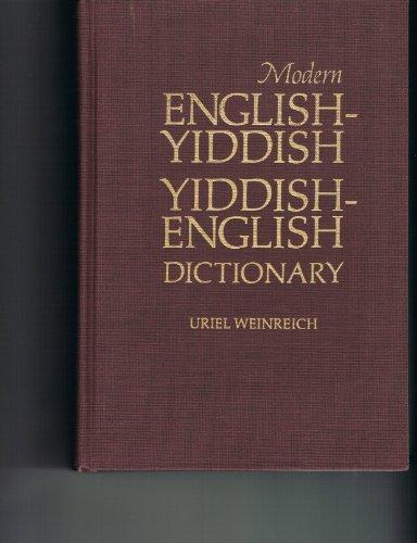 Modern English Yiddish Yiddish English Dictionary (English and Yiddish Edition)