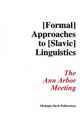 Formal Approaches to Slavic Linguistics: The Ann Arbor Meeting : Functional Categories in Slavic Syntax (Michigan Slavic Materials)