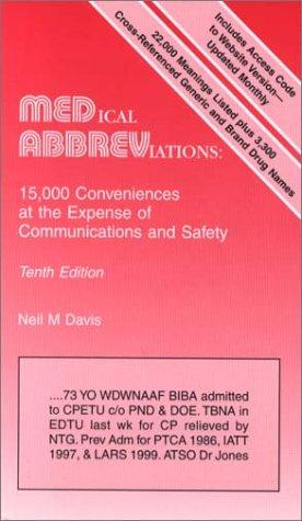 Medical Abbreviations: 15,000 Conveniences at the Expense of Communications and Safety