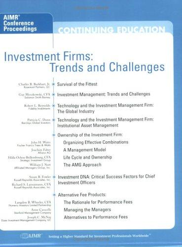 Investment Firms: Trends and Challenges