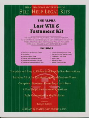 Non-Lawyers Last Will & Testament Kit National Edition