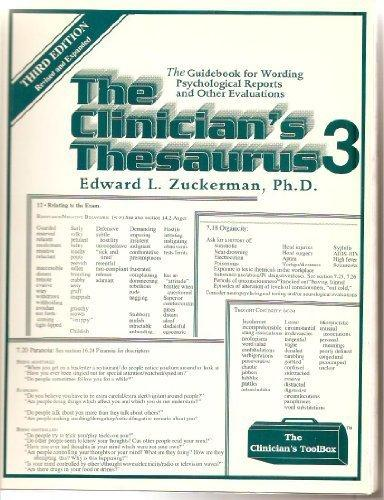 Clinician's Thesaurus: The Guidebook for Writing Psychological Reports (Clinician's toolbox)