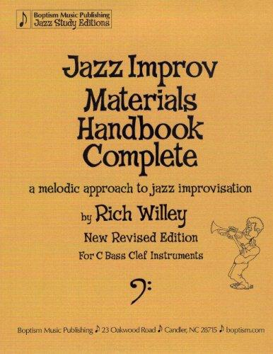 Jazz Improv Materials Handbook Complete, a Melodic Approach to Jazz Improvisation, for C Bass Clef Instruments