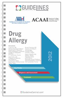Drug Allergy GUIDELINES Pocketcard: American Academy of Allergy, Asthma and Immunology/American College of Allergy, Asthma and Immunology (2012)