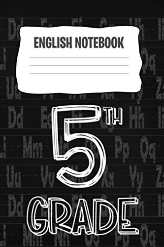 English Notebook: A 6x9 Inch Matte Softcover Paperback Notebook Journal With 120 Blank Lined Pages - Cursive Paper-Elementary School 5th Grade