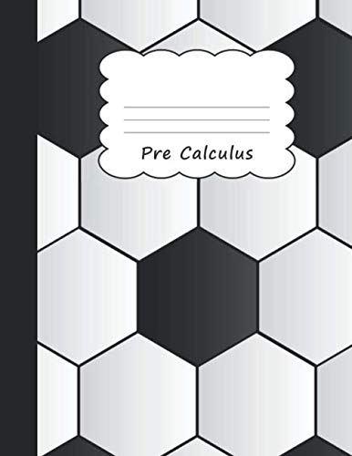 Pre-Calculus: Soccer (Football) Large Blank 4 x 4 Quadrille Squared Coordinate Grid Paper | Goalkeeper Black & White Ball Goalie Pattern | For Sport ... Preschool Kindergarten Primary Elementary