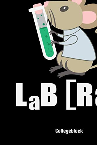 Lab Rat Collegeblock: Lab Rat Science Chemistry School Notebook: 8,5x11 A4 Lined Bulletjournal |Organizer | Class Shedule | College Journal For Students And Teacher