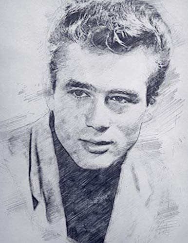 Notebook: James Dean actor American cult rebel without a cause giant elizabeth taylor