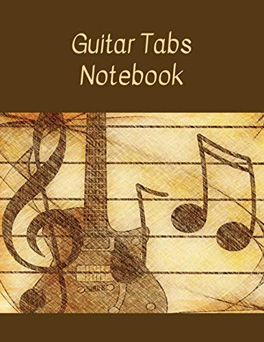 Guitar Tabs Notebook: Blank guitar tabs notebook with chord spaces