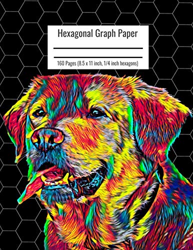 Hexagonal Graph Paper: Organic Chemistry & Biochemistry Notebook, Vibrant Labrador Retriever Dog Cover, 160 Pages (8.5 x 11 inch, 1/4 inch hexagons)