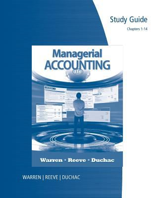 Managerial Accounting - Study Guide