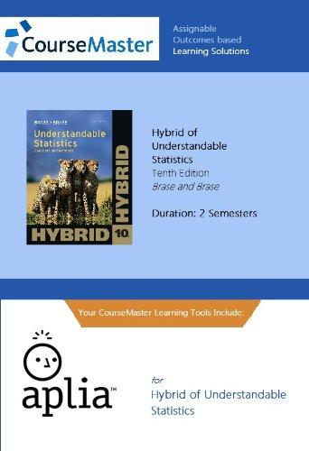 Understandable Statistics: Concepts and Methods, Hybrid Edition (with Aplia General Introduction Statistics 2-Semester Printed Access Card)