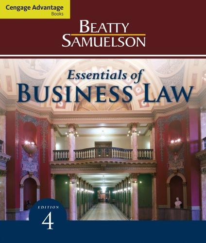 Bundle: Cengage Advantage Books: Essentials of Business Law, 4th + Business Law Digital Video Library Printed Access Card
