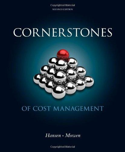 Cornerstones of Cost Management