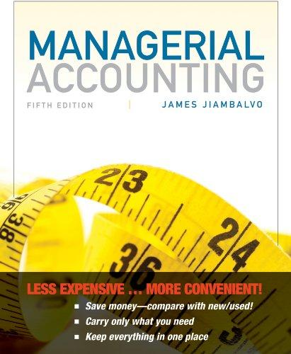 Managerial Accounting 5th Edition Binder Ready Version