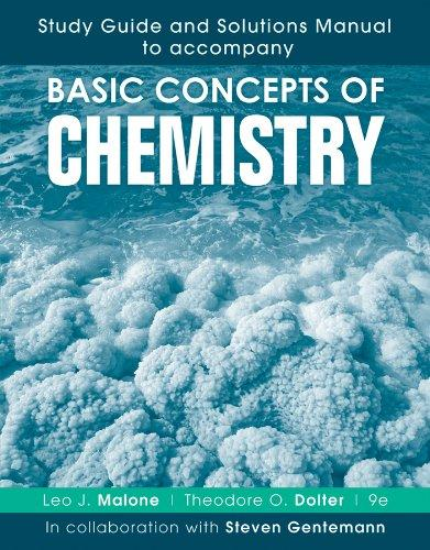 Study Guide and Solutions Manual to accompany Basic Concepts of Chemistry