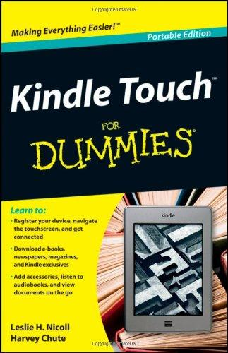 Kindle Touch For Dummies Portable Edition