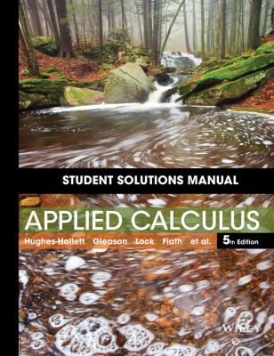 Student Solutions Manual to accompany Applied Calculus