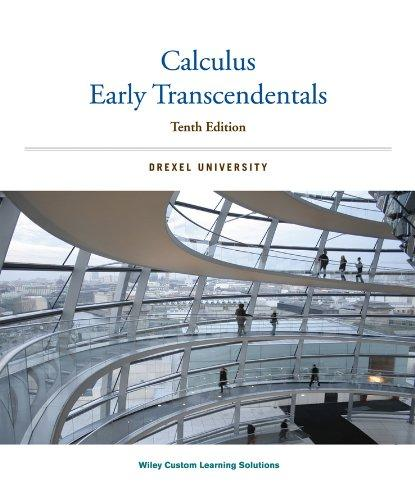 Calculus Early Transcendentals: Drexel University