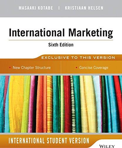 Global Marketing Management 6th Edition By Kristiaan Helsen and Masaaki (Mike) Kotabe (2014)