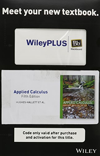 Applied Calculus, 5e WileyPLUS Blackboard Student Package