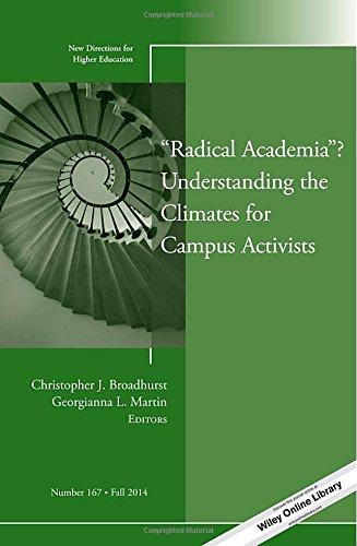 """Radical Academia"" Understanding the Climates for Campus Activists: New Directions for Higher Education, Number 167 (J-B HE Single Issue Higher Education)"