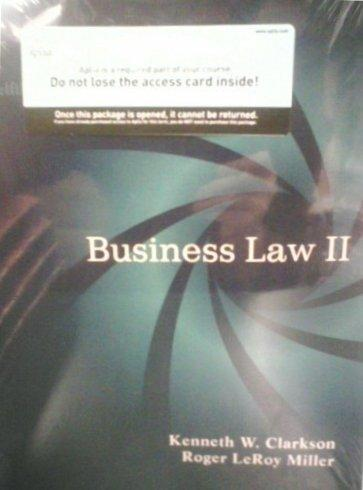 Business Law II (w/ Aplia access card)(custom edition for Brooklyn College)