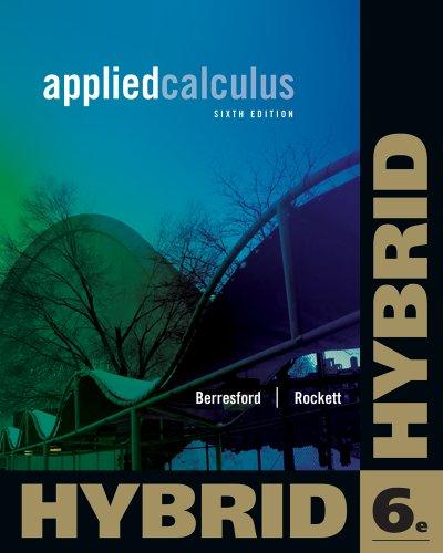 Applied Calculus, Hybrid Edition (with Enhanced WebAssign with eBook LOE Printed Access Card for One-Term Math and Science) (Cengage Learning 's New Hybrid Editions!)