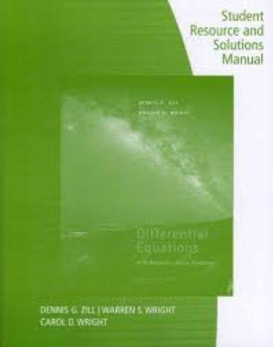 Student Resource and Solutions Manual: Differential Equations with Boundary Value Problems, 8th Edition